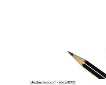 Black and white pencil isolated on white background.