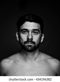 black and white people portrait