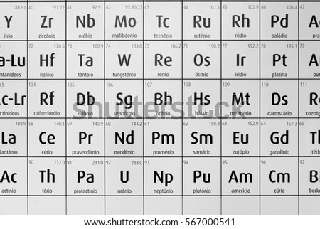 Black White Periodic Table Chemical Elements Stock Photo Edit Now