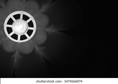 Black and White photo of a Abstract lamp