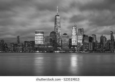 Black and white photo at New York City