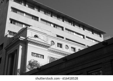 Black and white photography of architecture architectural detail photo city