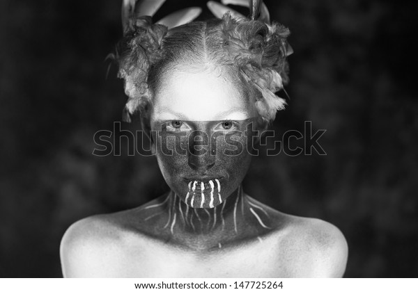Black White Photography Young Beautiful Fashion Stock Photo Edit Now 147725264