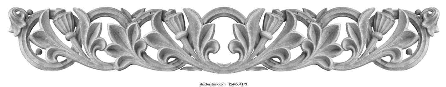 Black and white photos, elements of architectural decorations of buildings, bas-reliefs and patterns on the streets in Catalonia, public places.