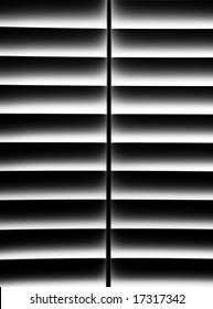 Black and White Plantation Shutter for Privacy