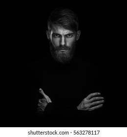 Black And White Photography Beard