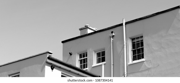 Black and White Rooftops Paborama