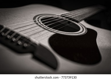 Closeup Abstract Classical Acoustic Guitar Strings Stock Photo Edit