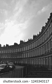 Black and white The Royal Crescent