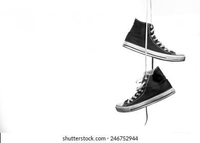 Imágenes, fotos de stock y vectores sobre Sneakers Hang On