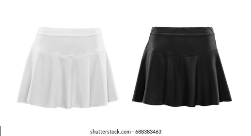 Black and white skirt isolated on white background