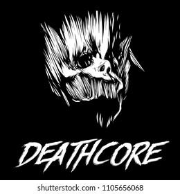 Deathcore Font Acapella Images, Stock...