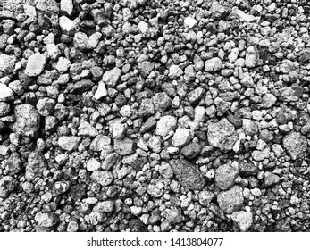 Black and White small stones textured wall