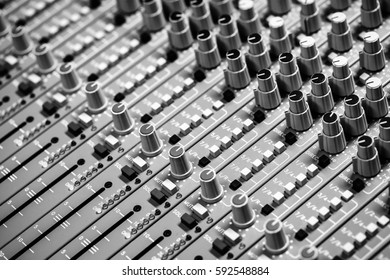 Black and white Sound music controller Electric Mixer Recording Studio Audio Equipment Digital Recorder