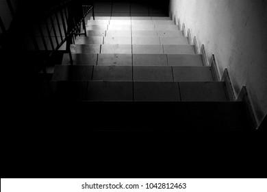 Black white stairs