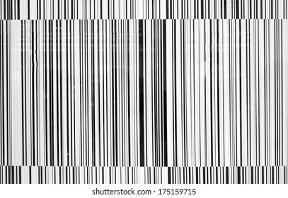 Black and white striped bar-code background