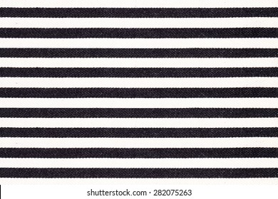 Black and white striped fabric texture