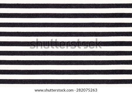 Black White Striped Fabric Texture Stock Photo Edit Now 282075263