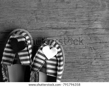 Black White Striped Shoes Black White Stock Photo Edit Now