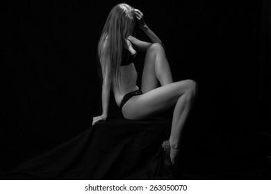 Black and white studio shoot