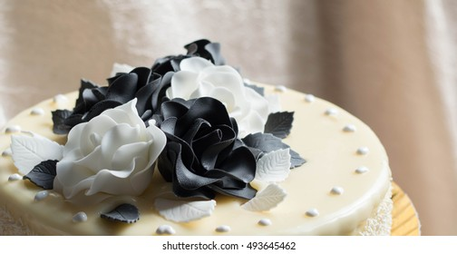 Black white sugar roses cake decoration stock photo edit now black and white sugar roses cake decoration mightylinksfo
