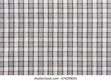 Black and white tablecloth fabric texture pattern background. Fabric texture, Fabric background. Tablecloth texture. Tablecloth background for design