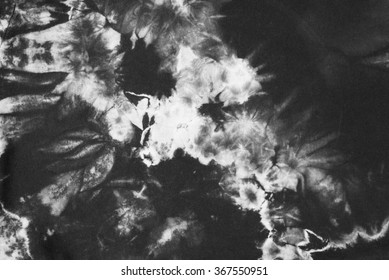 black and white tie dyed pattern abstract background.