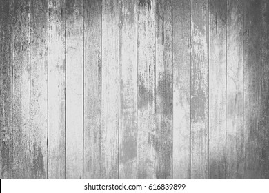 black and white ton old wood planks texture background.