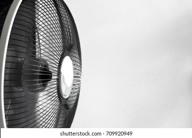 Black and white tone photo of electric fan