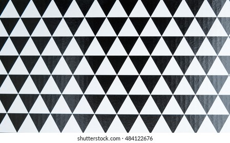 black and white triangle background, Pattern background