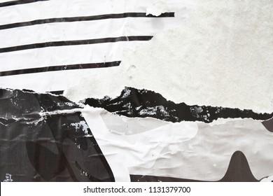 black and white urban street billboard placard