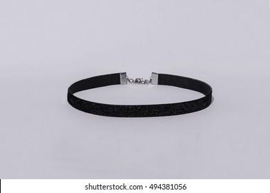 black and white Velvet Choker Necklaces