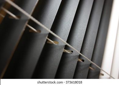Black and white venetian blinds