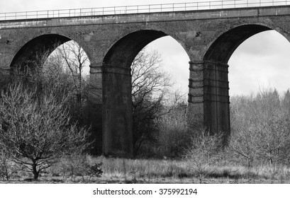 Black and white viaduct