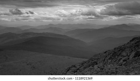 Black and white view of White Mountains