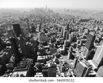 A Black and white view over New York