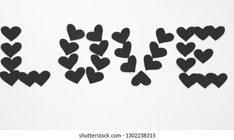 "Black and White Wallpaper, ""Love"" subtitle."