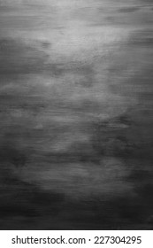 Black And White Water Color Paint Texture. Abstract Grey Painting Background