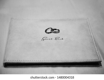 Black and white wedding guestbook