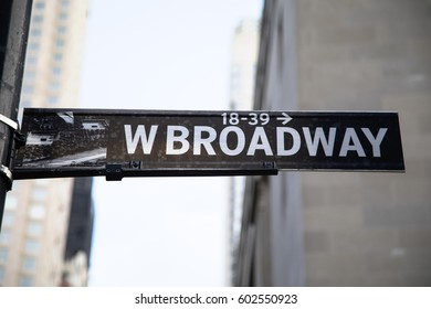 Black and White West Broadway Sign