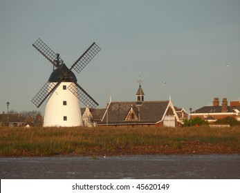 Black and white windmill lytham st annes england