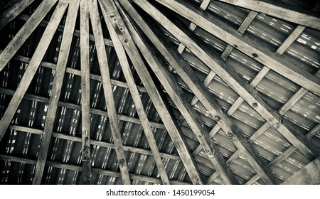 Black and white wooden made stylish ceiling design