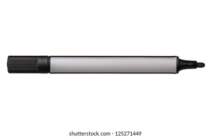Black whiteboard marker isolated on white background