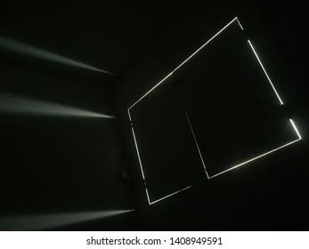 Black window in darkroom yep