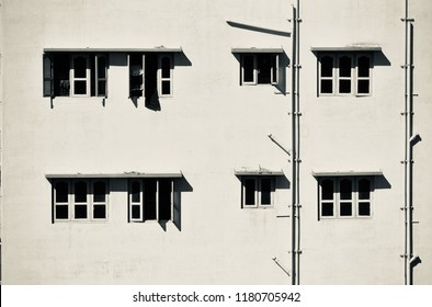 Black and windows of a traditional building isolated unique photo