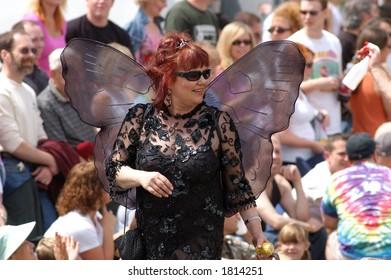 black winged woman