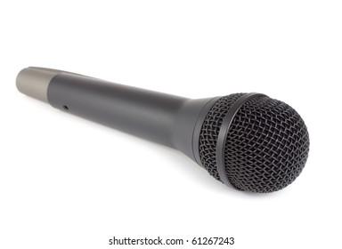 Black wireless microphone.
