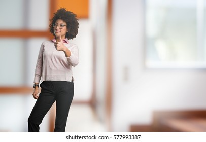 black woman doing okay gesture full body