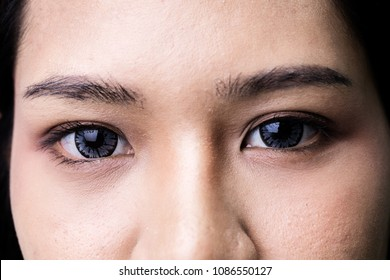 Black woman eyes lips nose beauty portrait close-up isolated on white