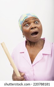 black woman looking surprised